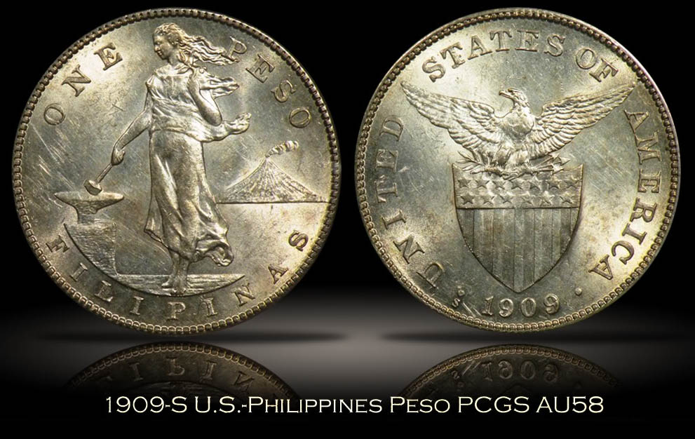 PCGS Example of a 1909-S Philippine Peso