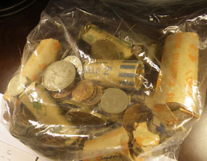 Bag of Zambian Coins
